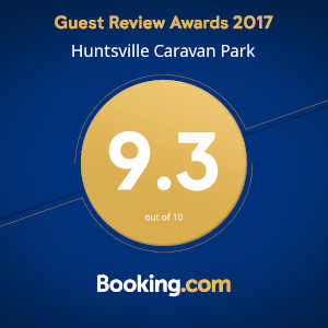 Booking.com Guest Review Awards 2017 Huntsville Caravan Park 9.3 out of 10