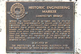 Historic Engineering Marker Lamington Bridge plaque