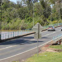 Lamington Bridge looking from Tinana side in daylight