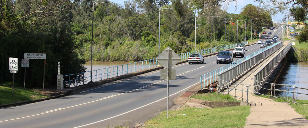 Lamington Bridge looking from Tinana side